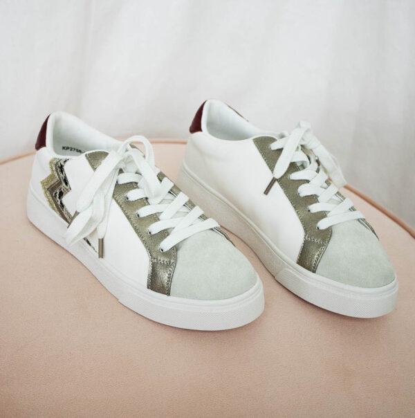 Sneakers wit dierenprint