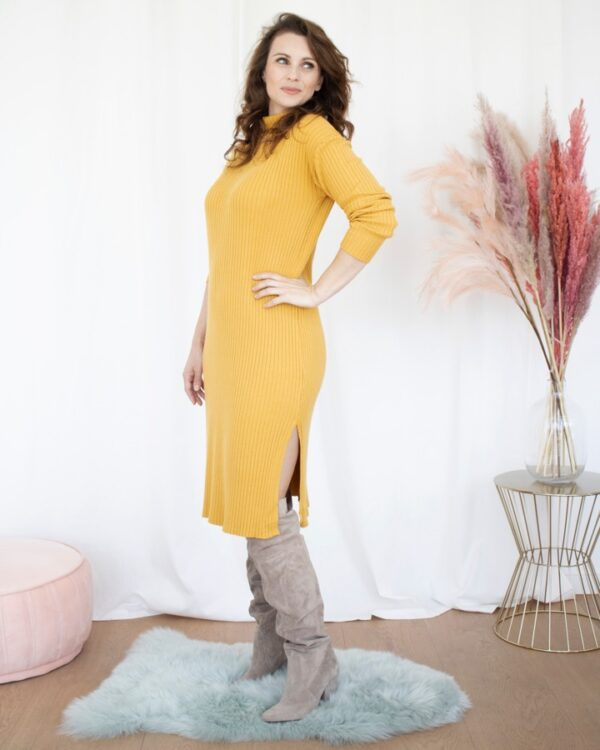 Kleed ribtricot geel