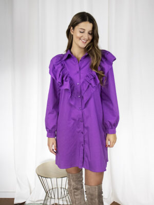 Hemdkleed paars