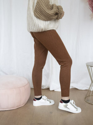 Cognac knit jogging