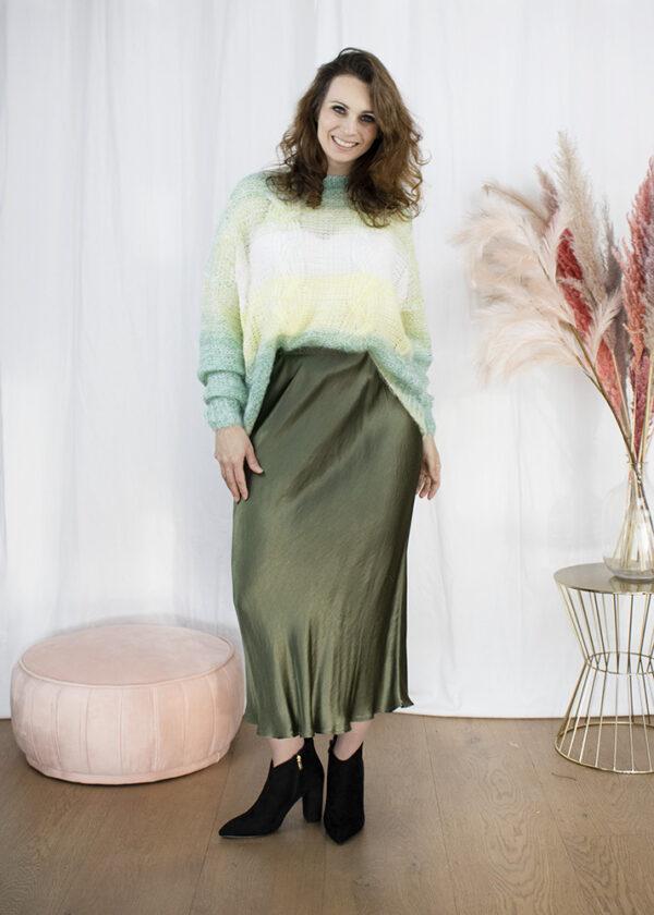 Lange rok knitwear trui dameskleding
